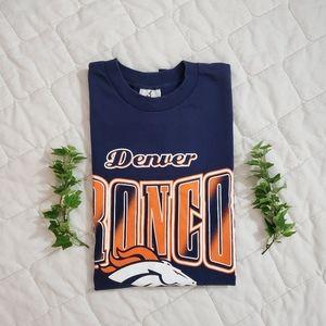 Vintage 90's Riddell Denver Broncos Graphic Tshirt